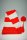 Fleece Langmütze / Schalmütze  Rot-Weiß