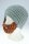 Bart - Mütze von Beardo Grobstrick (Bart abnehmbar) graue Mütze-brauner Bart