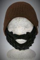 Bart - Mütze von Beardo Feinstrick blau - braun