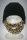 Bart - Mütze von Beardo Feinstrick blau - braun Schwarz-Beige