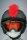 Irokesenkfell für Ski / Snowboard / Fahrrad - Helmaccessoires Rot