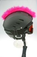 Irokesenkfell für Ski / Snowboard / Fahrrad - Helmaccessoires Pink