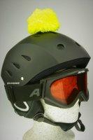 Pompon/Bommel Accessiore für Ski/Snowboard/Fahrrad-Helm