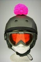 Pompon/Bommel Accessiore für Ski/Snowboard/Fahrrad-Helm Pink