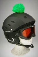 Pompon/Bommel Accessiore für Ski/Snowboard/Fahrrad-Helm Grün