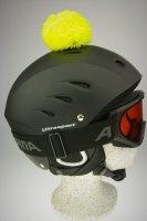 Pompon/Bommel Accessiore für Ski/Snowboard/Fahrrad-Helm Gelb