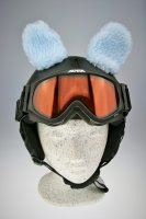 Schafs-Ohren für Ski/Snowboard/Fahrrad-Helm Blau