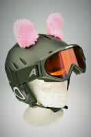 Schafs-Ohren für Ski/Snowboard/Fahrrad-Helm Rosa