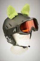 Schafs-Ohren für Ski/Snowboard/Fahrrad-Helm Grün