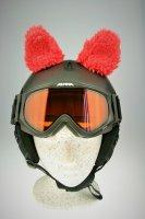 Schafs-Ohren für Ski/Snowboard/Fahrrad-Helm Rot