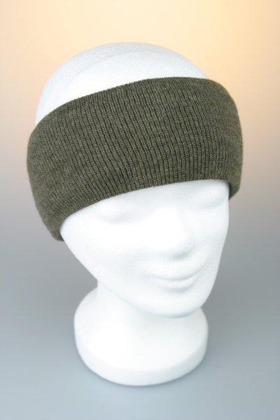 Feinstrick-Stirnband mit Baumwollfutter Braun