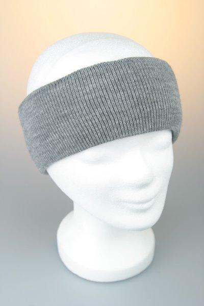 Feinstrick-Stirnband mit Baumwollfutter Grau