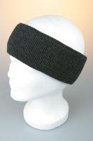 Feinstrick-Stirnband mit Baumwollfutter Anthrazit