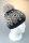 Strickmütze Snow Alpakamix mit Bommel und Baumwollfleece Marine-Creme