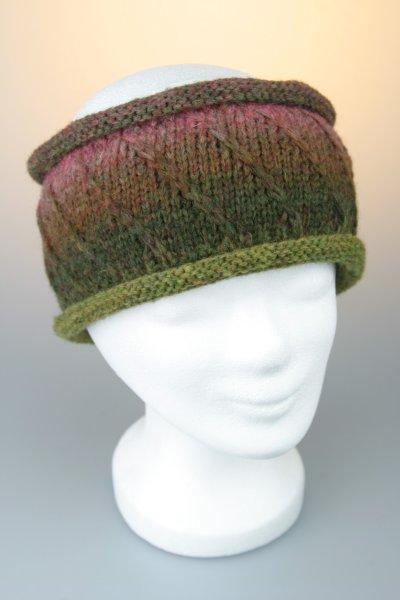 Stirnband, melange, Rollrand mit Baumwollfleece, Made in Germany Blumenwiese
