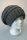 Feinstrick Ballonmütze mit Baumwollfleece, Made in Germany Anthrazit