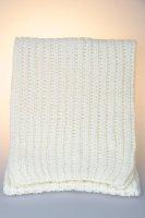 Strickschal, Patent, Made in Germany Weiß