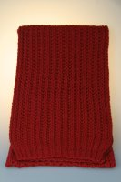 Strickschal, Patent, Made in Germany Rot