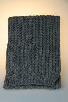 Strickschal, Patent, Made in Germany Anthrazit