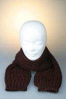 Strickschal, Patent, Made in Germany Bordeaux