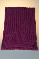 Strickschal, Patent, Made in Germany Lila