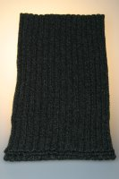 Strickschal 80 % Wolle, melange, gerippt, Made in Germany Anthrazit