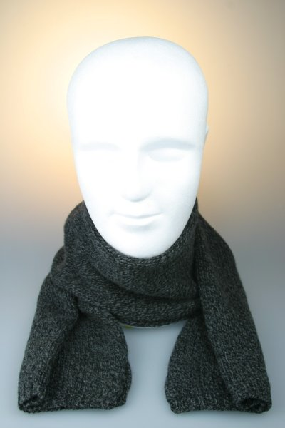 """Strickschal """"Lucca"""", 80 % Wolle, Made in Germany Anthrazit"""
