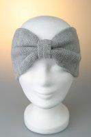 Stirnband, Feinstrick mit Riegel Grau