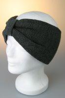 Stirnband, Feinstrick mit Riegel Anthrazit