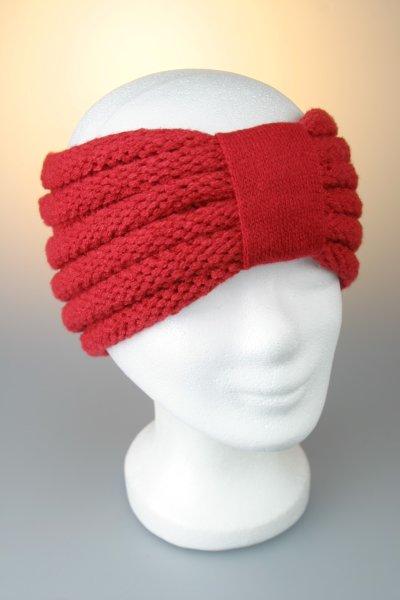 Stirnband mit Riegel und Falz Rot