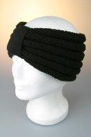 Stirnband mit Riegel und Falz Schwarz