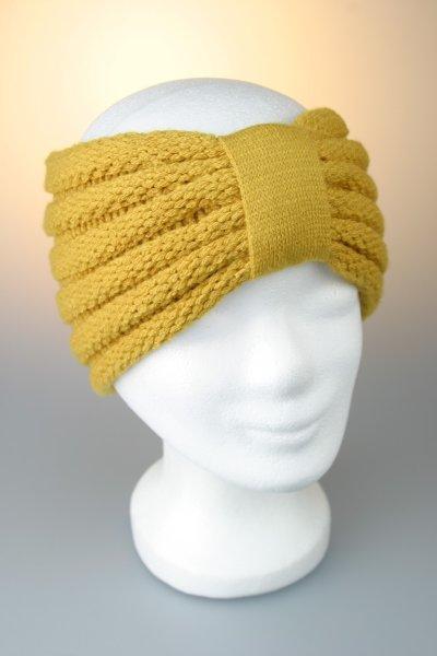 Stirnband mit Riegel und Falz Gelb