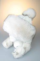 Strickmütze, Tatra Deluxe Weiß mit Fleecefutter und Kunstpelz in Weiß