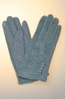 Damenhandschuh in verschiedenen Farben mit Tochscreenfunktion, Knopfreihe