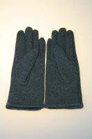 Damenhandschuh mit Tochscreenfunktion, Knopfreihe Grau