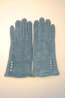 Damenhandschuh mit Tochscreenfunktion, Knopfreihe Hellgrau