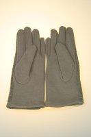 Damenhandschuh mit Tochscreenfunktion, Knopfreihe Beige