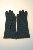 Damenhandschuh mit Glitzerperlen Anthrazit