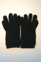 Damen-Strickhandschuh, 100% Wolle mit Thinsulatefutter, Schwarz Damen Strick 6,5