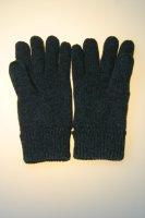 Herren-Strickhandschuh, 100% Wolle mit Thinsulatefutter, Grau