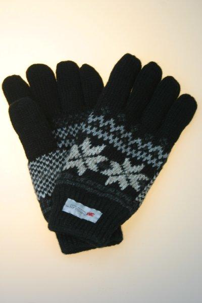 Stickhandschuhe Norweger, Thinsulate, schwarz