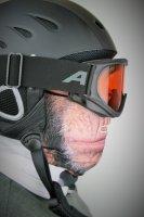 Rundschalmaske mit 3D Druck Affe, gefüttert mit Fleece