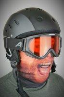 Rundschalmaske  mit 3D Druck Bart, gefüttert mit Fleece