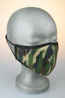 Mund- und Nasenmaske, camouflage, braun grün