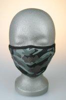 Mund- und Nasenmaske, camouflage schwarz grau