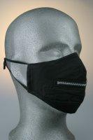 Mund- und Nasenmaske, Reißverschluss