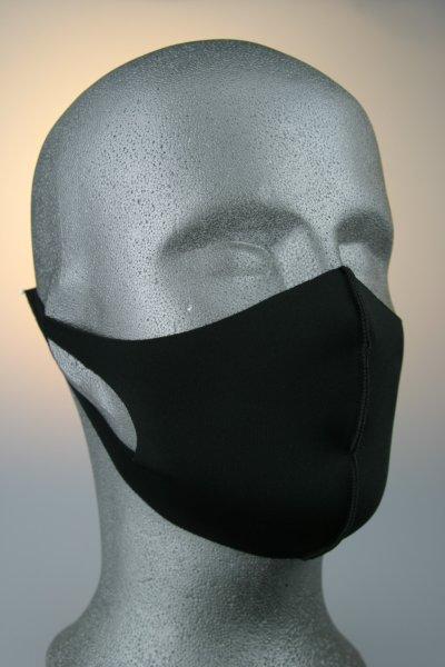 Mund- und Nasenmaske, schwarz