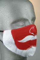 Mund- und Nasenmaske mit Weihnachtsmotiv, Weihnachtsschnurbart