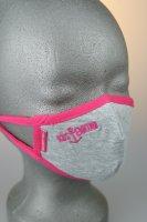 Kindermaske, 3-6 J., grau mit pink Küstenkind