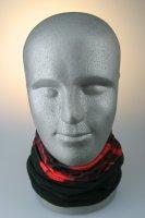 Multifunktionstuch mit Thermofleece, schwarz-rot